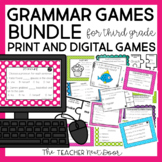 3rd Grade Grammar Games Bundle Print and Digital Distance