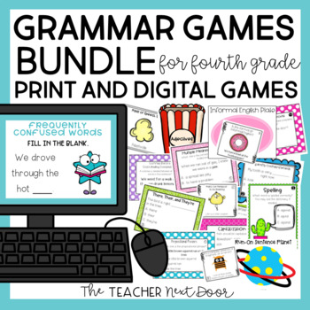 4th Grade Grammar Games Bundle 4th Grade Grammar Centers