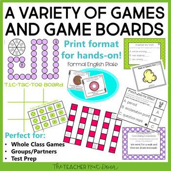 Grammar Games Bundle   Grammar Centers 4th Grade   Grammar Activities
