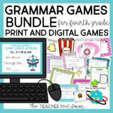 4th Grade Grammar Games Bundle | 4th Grade Grammar Centers