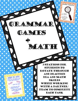 Grammar Games + Math