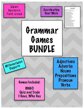 Grammar Games 18 Game Mega Bundle {Differentiated}