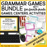 4th Grade Grammar Games Bundle Set 1 Print and Digital Dis