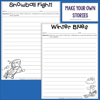 Grammar Games: Silly Stories for Winter!