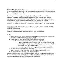 Grammar Games for Every Grammar Concept