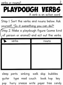 Grammar Games with Playdough