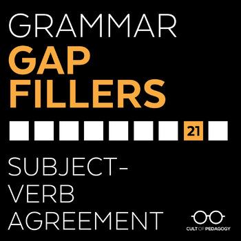 Grammar Gap Filler 21 Subject Verb Agreement By Cult Of Pedagogy