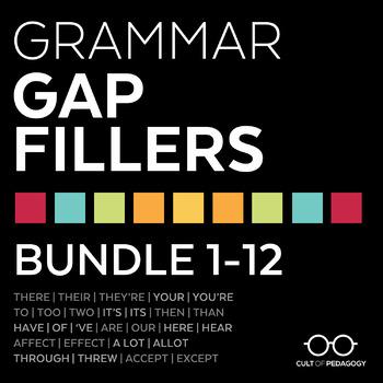 Grammar Gap Fillers: Bundle 1-12