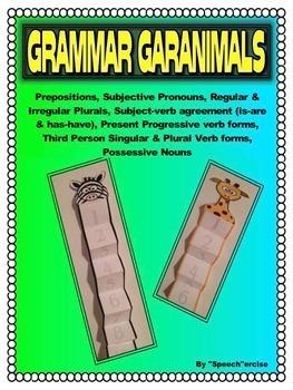Grammar Garanimals- Speech Therapy