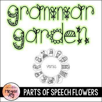 Grammar Garden Parts of Speech Craftivity