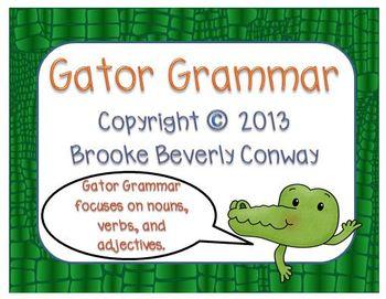 Grammar Gator Task Cards