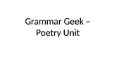 Grammar Geek - Poetry