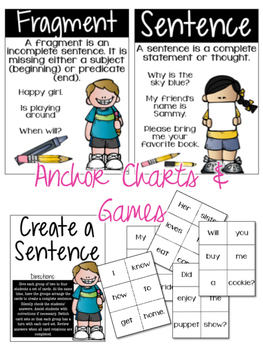 Grammar Geeks: Weekly Lesson Plans - Sentences and Fragments