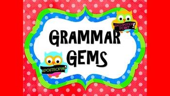 Grammar Gems: 20 Weeks of Daily Grammar Activities