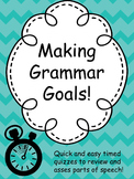 Grammar Goals: 12 Timed Drills to Review Basic Parts of Speech