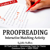 Proofreading & Editing, Interactive Activity/Game for Grammar, HS Dropouts