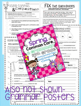 Grammar 4th Grade ADD ON BUNDLE ~ 4th Grade Grammar Themed Printables