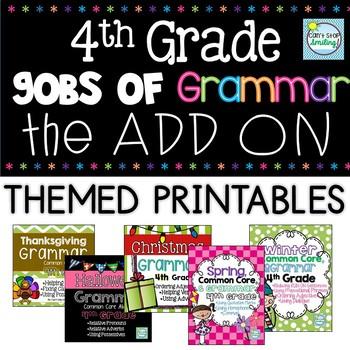 Grammar 4th Grade ADD ON BUNDLE ~ 4th Grade Grammar Themed