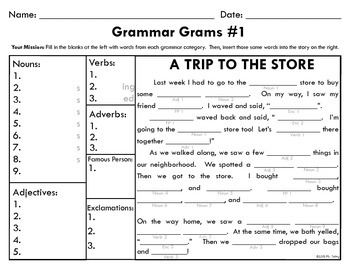 Grammar Grams #1: The Fun Way To Teach Grammar