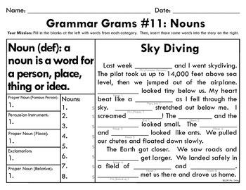 Grammar Grams (11-15): Nouns