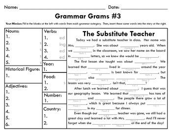 Grammar Grams #3: The Fun Way To Teach Grammar