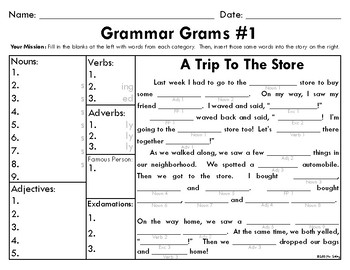 Grammar Grams (1-5): The Fun Way To Teach Grammar!