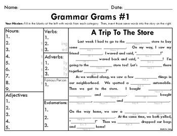 Grammar Grams (1-5): The Fun Way To Teach Grammar!
