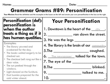 Grammar Grams (86-100): Figures of Speech and Poetic Devices