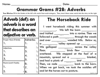 Grammar Grams (26-30): Adverbs