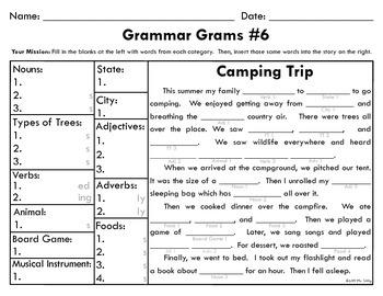Grammar Grams (6-10): The Fun Way To Teach Grammar!