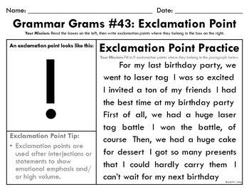 Grammar Grams (41-60): Punctuation