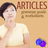 Articles Grammar Guide with Worksheets