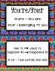 Grammar Guide Bulletin Board Printable Boho inspired
