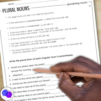 Plural Nouns: Grammar Guide with Worksheets