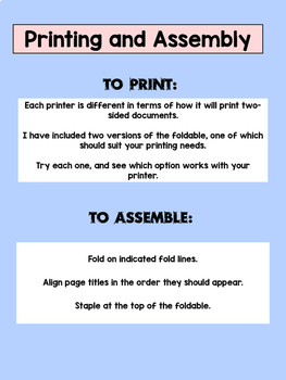 Grammar Guidebook Foldable! No Scissors or Glue Needed!