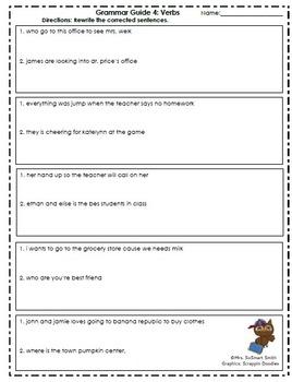 Grammar Guides 1-4: Verbs