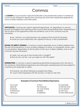 Grammar Guru - Commas: Appositives, Direct Address, & Interrupters