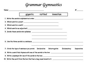 Grammar Gymnastics