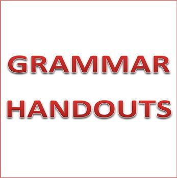 Grammar Handout - Subject Verb Adjective Adverb