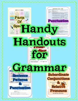 Grammar Handy Handouts