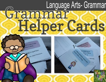 Grammar (Parts of Speech) Helper Cards
