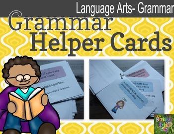 Grammar (Parts of Speech) Helper Cards