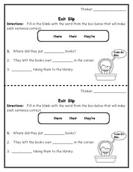 Grammar - Homophones Task Cards