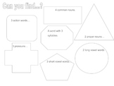 Grammar Hunt after reading:  great for early finishers