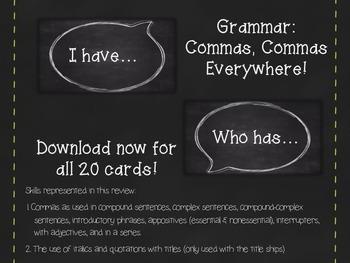 Grammar:  I Have Who Has (Titanic theme)