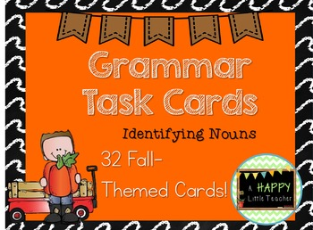 Grammar Identifying Nouns Task Cards