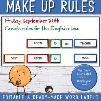 Grammar Imperative - Editable Word Labels