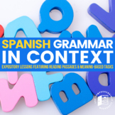 Grammar In Context BUNDLE: Guided notes + Readings in Spanish