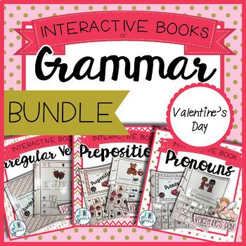 Grammar Interactive Book BUNDLE {VALENTINE'S DAY}