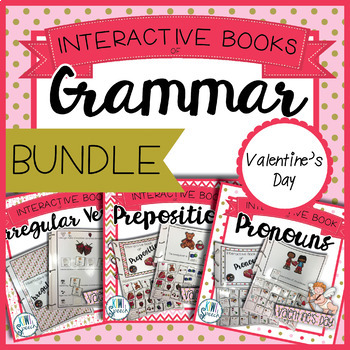 Grammar Interactive Book BUNDLE {VALENTINE'S DAY}